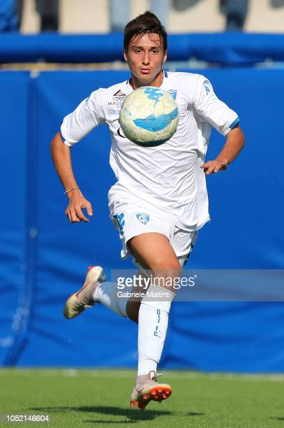 Giorgio Chinnici of Empoli U17 in action during the match between Empoli FC U17 and ACF Fiorentina U17 on October 14 2018 in Empoli Italy