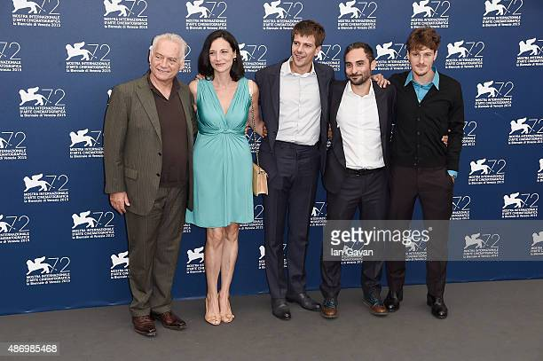 Giorgio Colangeli Corinna Lo Castro Domenico Diele Piero Massina and Antonio Folletto attend a photocall for 'The Wait' during the 72nd Venice Film...