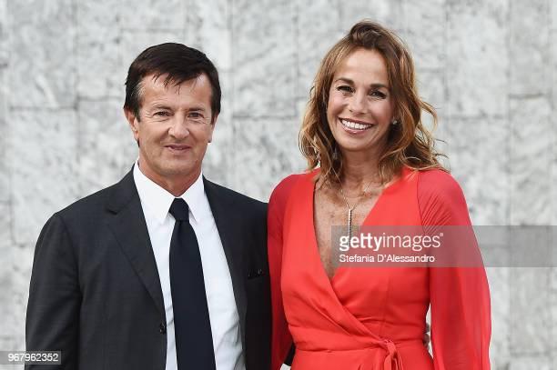 Giorgio Gori and Cristina Parodi arrive at Convivio 2018 on June 5 2018 in Milan Italy