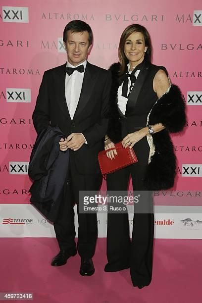 Giorgio Gori and Cristina Parodi attend the MAXXI Gala Dinner photocall at Maxxi Museum on November 29 2014 in Rome Italy