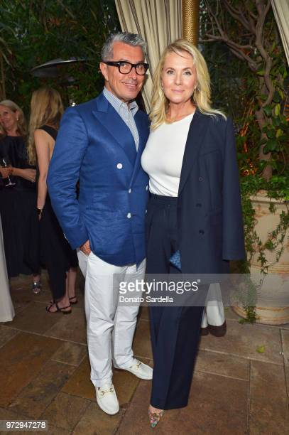 Giorgio Guidotti and Cornelia Guest attend the Max Mara Celebration for Alexandra Shipp 2018 Women In Film Max Mara Face Of The Future Award...