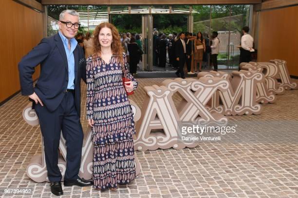 Giorgio Guidotti and Tiziana Cardini attend Max Mara Resort Show 2019 at Collezione Maramotti on June 4 2018 in Reggio nell'Emilia Italy