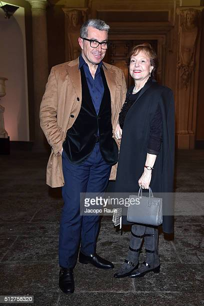 Giorgio Guidotti attends Vogue Cocktail Party honoring photographer Mario Testino on February 27 2016 in Milan Italy