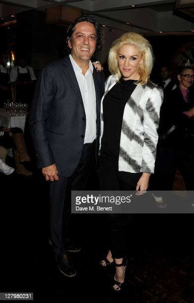 Giorgio Locatelli and Gwen Stefani attend a book launch party for Chef Giorgio Locatelli's new book Made In Sicily at Locanda Locatelli on October 4...