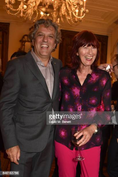 Giorgio Locatelli and Janet StreetPorter attend the launch of chef Giorgio Locatelli's new book Made At Home The Food I Cook For The People I Love at...