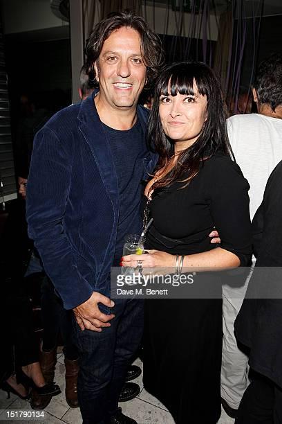 Giorgio Locatelli and Plaxy Locatelli attend as Locanda Locatelli celebrates it's 10th Anniversary on September 11 2012 in London England