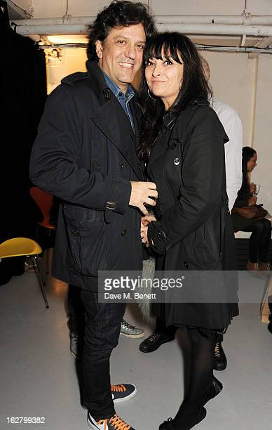 Giorgio Locatelli and Plaxy Locatelli attend the launch of artist Dinos Chapman's first album 'Luftbobler' at The Vinyl Factory on February 27 2013...