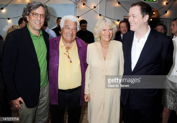 Giorgio Locatelli Antonio Carluccio Camilla Duchess of Cornwall and Tom Parker Bowles attend as Tom Parker Bowles launches his new cookbook 'Let's...