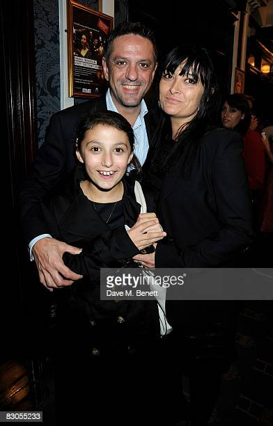 Giorgio Locatelli with his daughter Dita and wife Plaxy attend the press night of Girl With A Pearl Earring at the Theatre Royal Haymarket on...