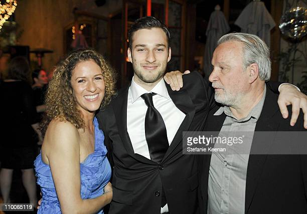 Giorgio Moroder Alex Moroder and Francisca Moroder attend Giorgio Moroder's Surprise Birthday Party at Spago on April 26 2010 in Beverly Hills...