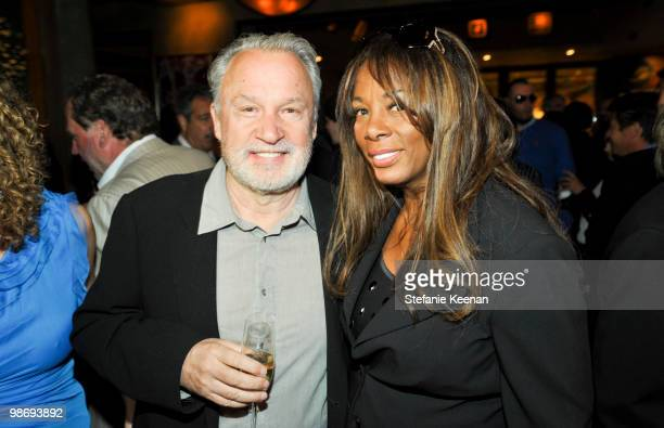 Giorgio Moroder and Donna Summer attend Giorgio Moroder's Surprise Birthday Party at Spago on April 26 2010 in Beverly Hills California