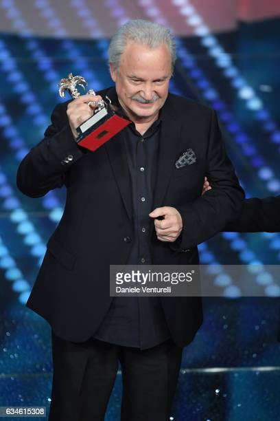Giorgio Moroder attends the fourth night of the 67th Sanremo Festival 2017 at Teatro Ariston on February 10 2017 in Sanremo Italy