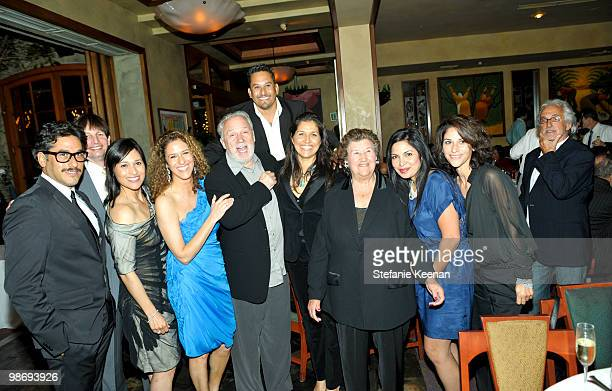 Giorgio Moroder Francisca Moroder and Gutierrez Family attend Giorgio Moroder's Surprise Birthday Party at Spago on April 26 2010 in Beverly Hills...