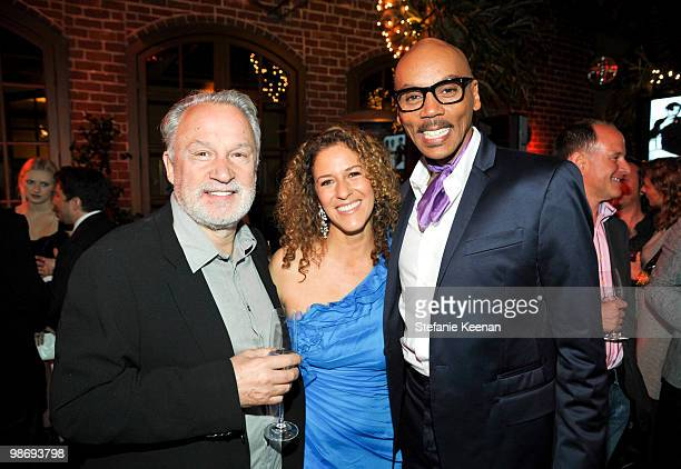 Giorgio Moroder Francisca Moroder and RuPaul attend Giorgio Moroder's Surprise Birthday Party at Spago on April 26 2010 in Beverly Hills California