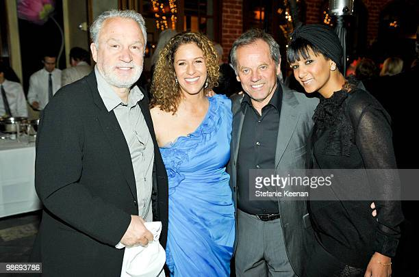 Giorgio Moroder Francisca Moroder Wolfgang Puck and Gelila Puck attend Giorgio Moroder's Surprise Birthday Party at Spago on April 26 2010 in Beverly...