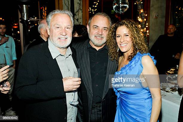 Giorgio Moroder Ulli Edel and Francisca Moroder attend Giorgio Moroder's Surprise Birthday Party at Spago on April 26 2010 in Beverly Hills California
