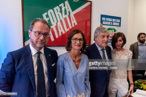 Giorgio Mulè deputy of Forza Italia and sole spokesperson of the blue groups of the Chamber and Senate Mariastella Gelmini group leader of Forza...
