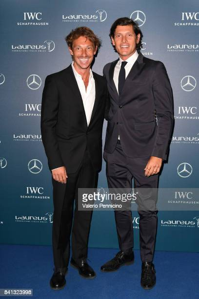 Giorgio Pasotti and Aldo Montano attend during the Laureus F1 Charity Night at Teatro Vetra on August 31 2017 in Milan Italy