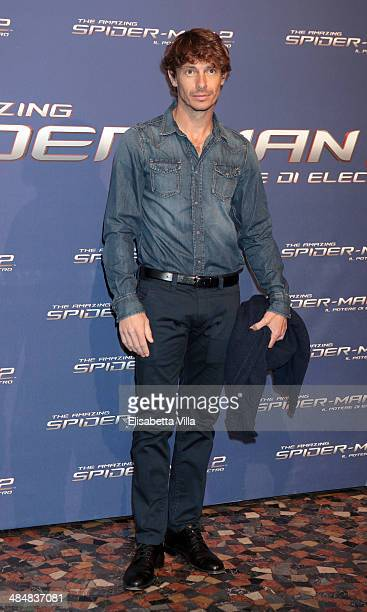 Giorgio Pasotti attends 'The Amazing Spider-Man 2: Rise Of Electro' Rome Premiere at The Space Moderno Cinema on April 14, 2014 in Rome, Italy.