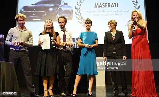 Giorgio Pasotti Fabio Troiano Camila Raznovich Alessandra Mastronardi Giulia Bongiorno and Michelle Hunziker attend Un'Altra Storia Charity Event...