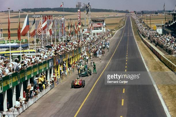 Giorgio Scarlatti Innes Ireland Maserati 250F LotusClimax 16 Grand Prix of France ReimsGueux 05 July 1959