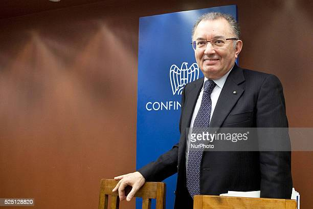 """Giorgio Squinzi president of """"Confindustria"""" in Rome. Photo: Ruggero Delfini/NurPhoto"""