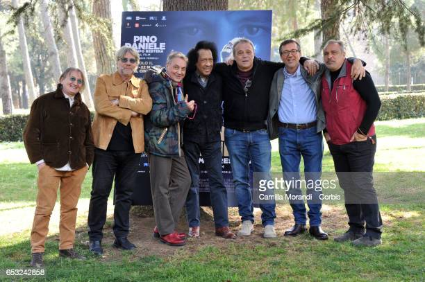 Giorgio Verdelli Joe Amoruso Tony Esposito Tullio De Piscopo James Senese Claudio Amendola Enzo Decaro attend a photocall for 'Pino Daniele Il Tempo...