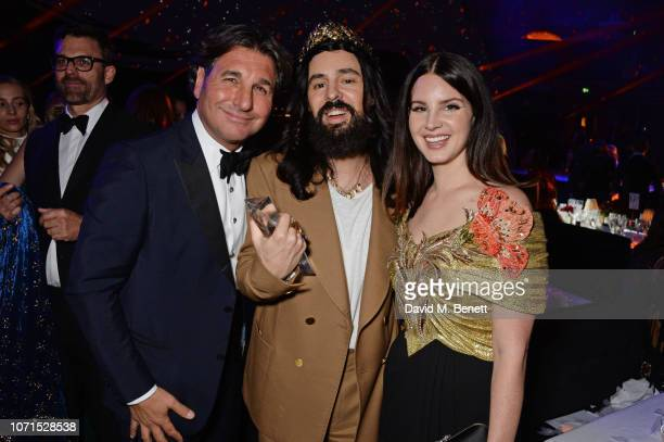 Giorgio Veroni Alessandro Michele and Lana Del Rey attend The Fashion Awards 2018 in partnership with Swarovski after party at the Royal Albert Hall...