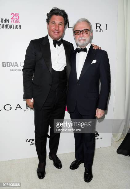 Giorgio Veroni and Rafi Manoukian attend Elton John AIDS Foundation 26th Annual Academy Awards Viewing Party at The City of West Hollywood Park on...