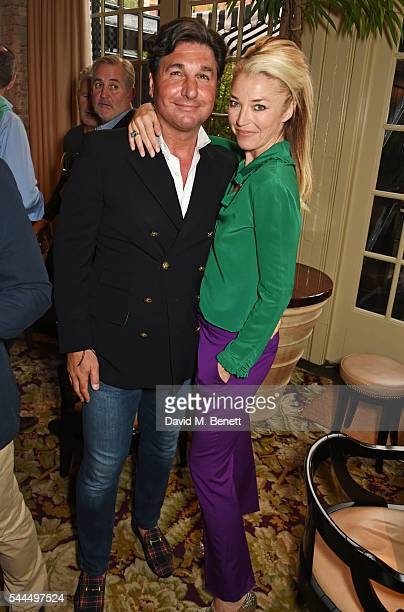 Giorgio Veroni and Tamara Beckwith attend the FIA Formula E Championship private dinner at Chiltern Firehouse on July 1 2016 in London England