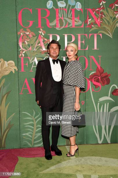 Giorgio Veroni and Tamara Beckwith attend The Green Carpet Fashion Awards, Italia 2019, hosted by CNMI & Eco-Age, at Teatro Alla Scala on September...