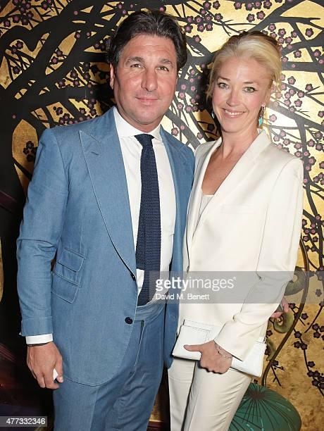 Giorgio Veroni and Tamara Beckwith attend the Walkabout Foundation Event hosted by Dee Ocleppo And Tommy Hilfiger at Loulou's on June 16 2015 in...