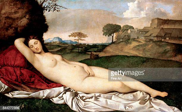 Giorgione Sleeping Venus 150810 oil on canvas 1085 x 175 cm Gemäldegalerie Dresden Germany