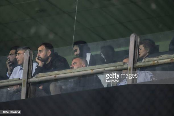 Giorgos Savvidis FC PAOK's owner son in the VIP section during the FC ARIS vs FC PAOK 12 game for the Superleague Greece the first category in...