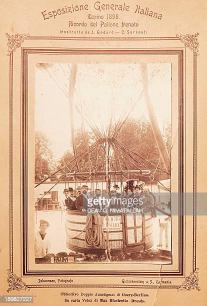 Giosue Alessandro Giuseppe Carducci Italian poet and writer ballooning in Turin Photograph 1898