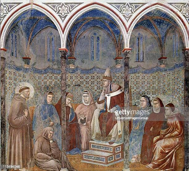 Giotto di Bondone fresco cycle for the life of St Francis of Assisi Francis before Pope Honorius III 129698