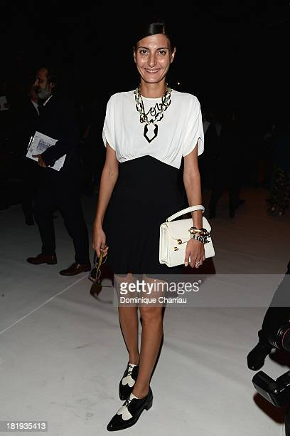 Giovana Battaglia attends the Nina Ricci show as part of the Paris Fashion Week Womenswear Spring/Summer 2014 on September 26 2013 in Paris France