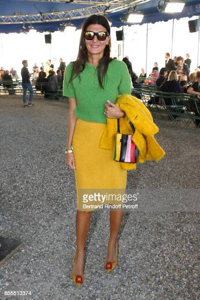 Giovana Battaglia attends the Nina Ricci show as part of the Paris Fashion Week Womenswear Spring/Summer 2018 on September 29, 2017 in Paris, France.