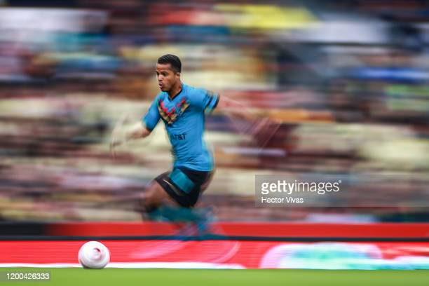 Giovani Dos Santos of America drives the ball during the 2nd round match between America and Tigres UANL as part of the Torneo Clausura 2020 Liga MX...