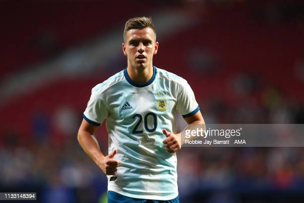 Giovani Lo Celso during the International Friendly match between Argentina and Venezuela at Estadio Wanda Metropolitano on March 22 2019 in Madrid...