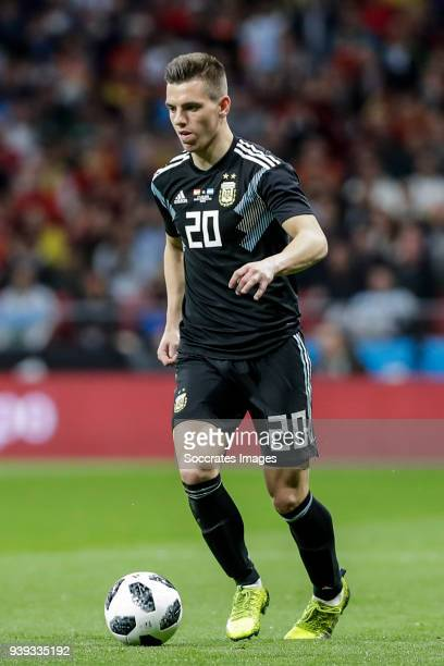 Giovani Lo Celso of Argentina during the International Friendly match between Spain v Argentina at the Estadio Wanda Metropolitano on March 27 2018...
