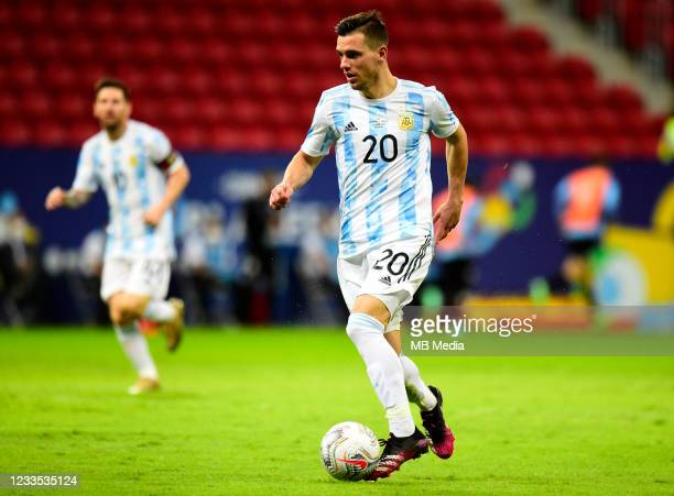 Giovani Lo Celso of Argentina in action ,during the match between Argentina and Uruguay as part of Conmebol Copa America Brazil 2021 at Mane...