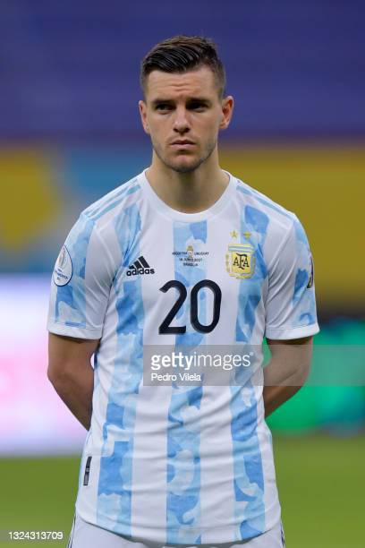 Giovani Lo Celso of Argentina looks on prior to a group A match between Argentina and Chile as part of Conmebol Copa America Brazil 2021 at Mane...