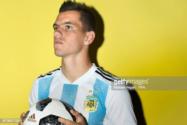 Giovani Lo Celso of Argentina poses during the official FIFA World Cup 2018 portrait session at on June 12 2018 in Moscow Russia