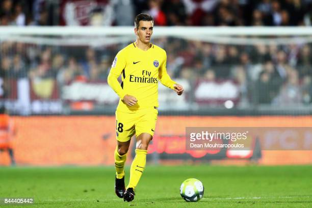 Giovani Lo Celso of Paris SaintGermain Football Club or PSG in action during the Ligue 1 match between Metz and Paris Saint Germain or PSG held at...