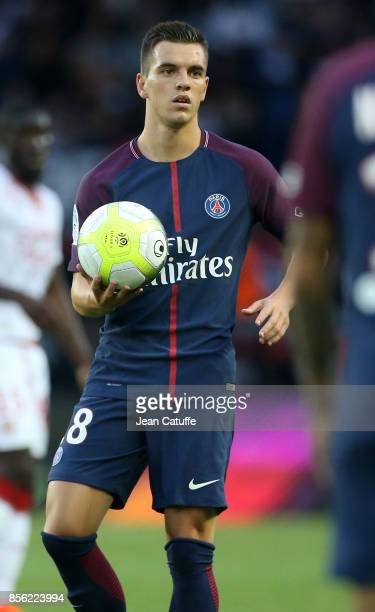 Giovani Lo Celso of PSG during the French Ligue 1 match between Paris SaintGermain and FC Girondins de Bordeaux at Parc des Princes on September 30...