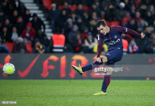 Giovani Lo Celso of PSG during the French Ligue 1 match between Paris Saint Germain and Troyes ESTAC at Parc des Princes on November 29 2017 in Paris