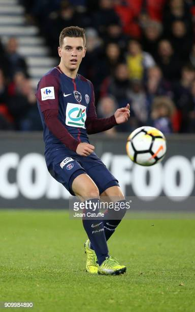 Giovani Lo Celso of PSG during the French National Cup match between Paris Saint Germain and En Avant Guingamp at Parc des Princes on January 24 2018...