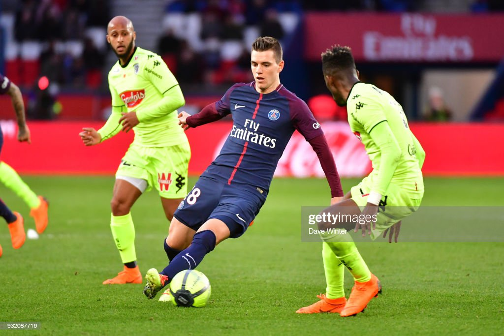 Giovani Lo Celso of PSG during the Ligue 1 match between Paris Saint Germain (PSG) and Angers SCO on March 14, 2018 in Paris, France.