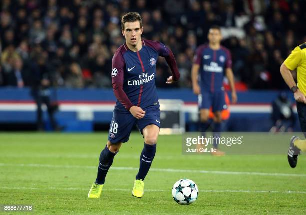 Giovani Lo Celso of PSG during the UEFA Champions League group B match between Paris SaintGermain and RSC Anderlecht at Parc des Princes on October...